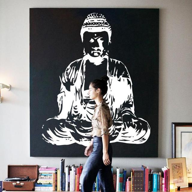 Aliexpresscom  Buy Art New Design Indian Buddha Religion Wall - Vinyl wall decals asian