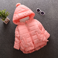 2016 New Arrival Children Warm Coat Girls Lace Cotton Quilted Hooded Jacket Kids New Fashion Students Jacket V-0261