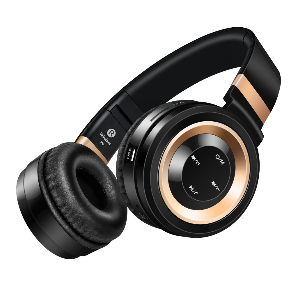 Sound Intone P6 Portable Stereo Handsfree Wireless Headsets Bluetooth Headphones With Mic TF Card FM Radio For Xiaomi iPhone sound intone p2 bluetooth headphone with mic support tf card fm radio stereo over ear wireless headset for laptop phone
