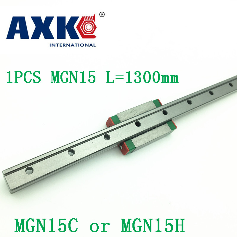 15mm Linear Guide Mgn15 L=1300mm Linear Rail Way + Mgn15c Or Mgn15h Long Linear Carriage For Cnc X Y Z Axis 15mm linear guide mgn15 l 650mm linear rail way mgn15c or mgn15h long linear carriage for cnc x y z axis