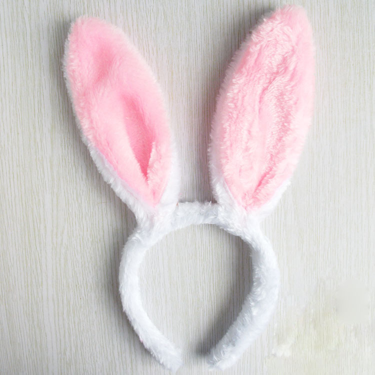 Cosplay Lovely Children Stage Prop Plush bunny Ears Hair Accessories Pink Lovely ...