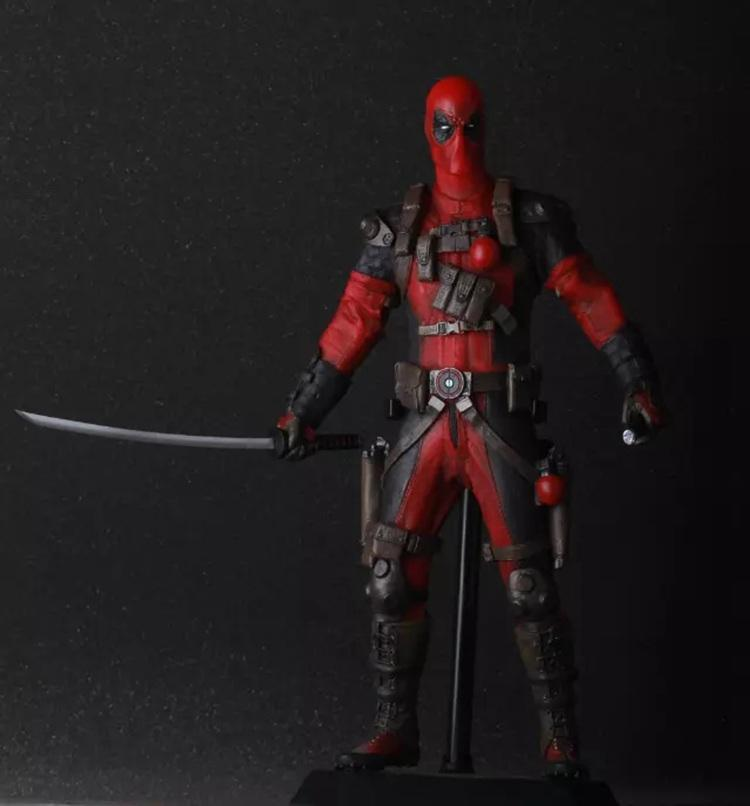 Crazy Toy Marvel Super Hero Deadpool Figure Collectible Model Toy 12 30cm marvel deadpool breaking the fourth wall complete figure model toy 20cm