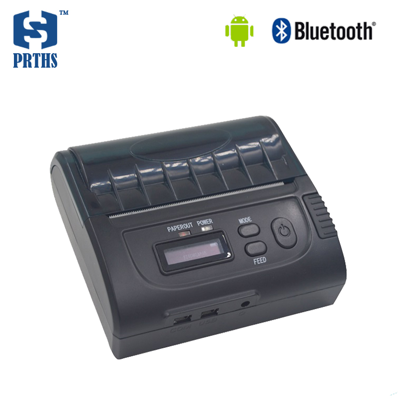 New 80mm mobile pos bluetooth font b printer b font with display androis small bill font