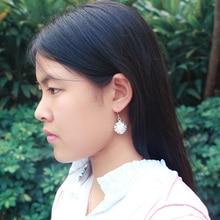 New Fashion Luxury 925 sterling silver dandelion earrings For Women Classic silver Jewelry flowers earrings birthday present