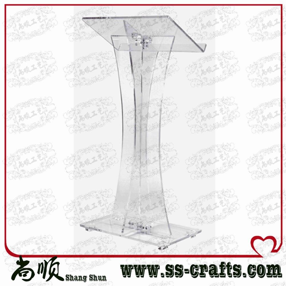 Direct Sale Custom Transparent Plexiglass Acrylic Lectern Plexiglass