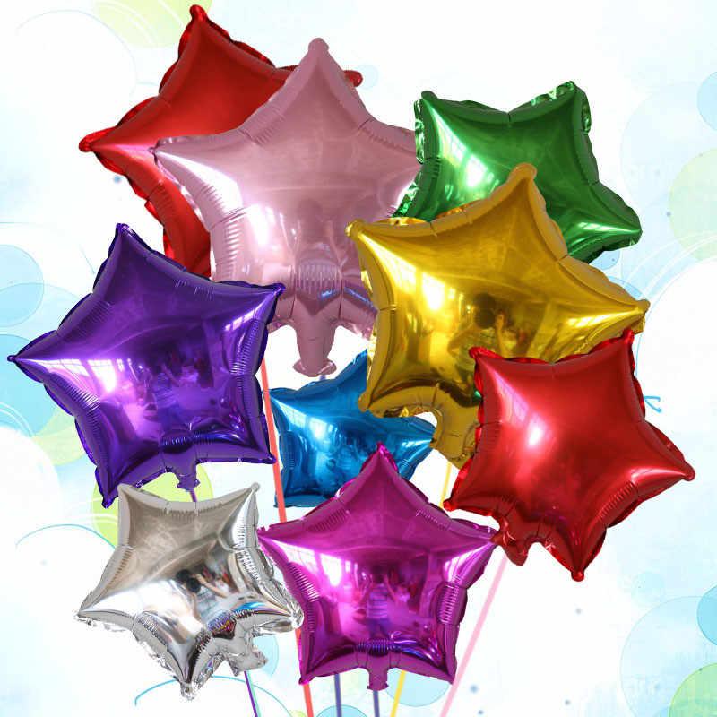 5 шт. 25 или 45 см праздничные Свадебные украшения Звезда Сердце Луна Форма фольга Гелий воздушные шары на день рождения принадлежности для юбилейной вечеринки