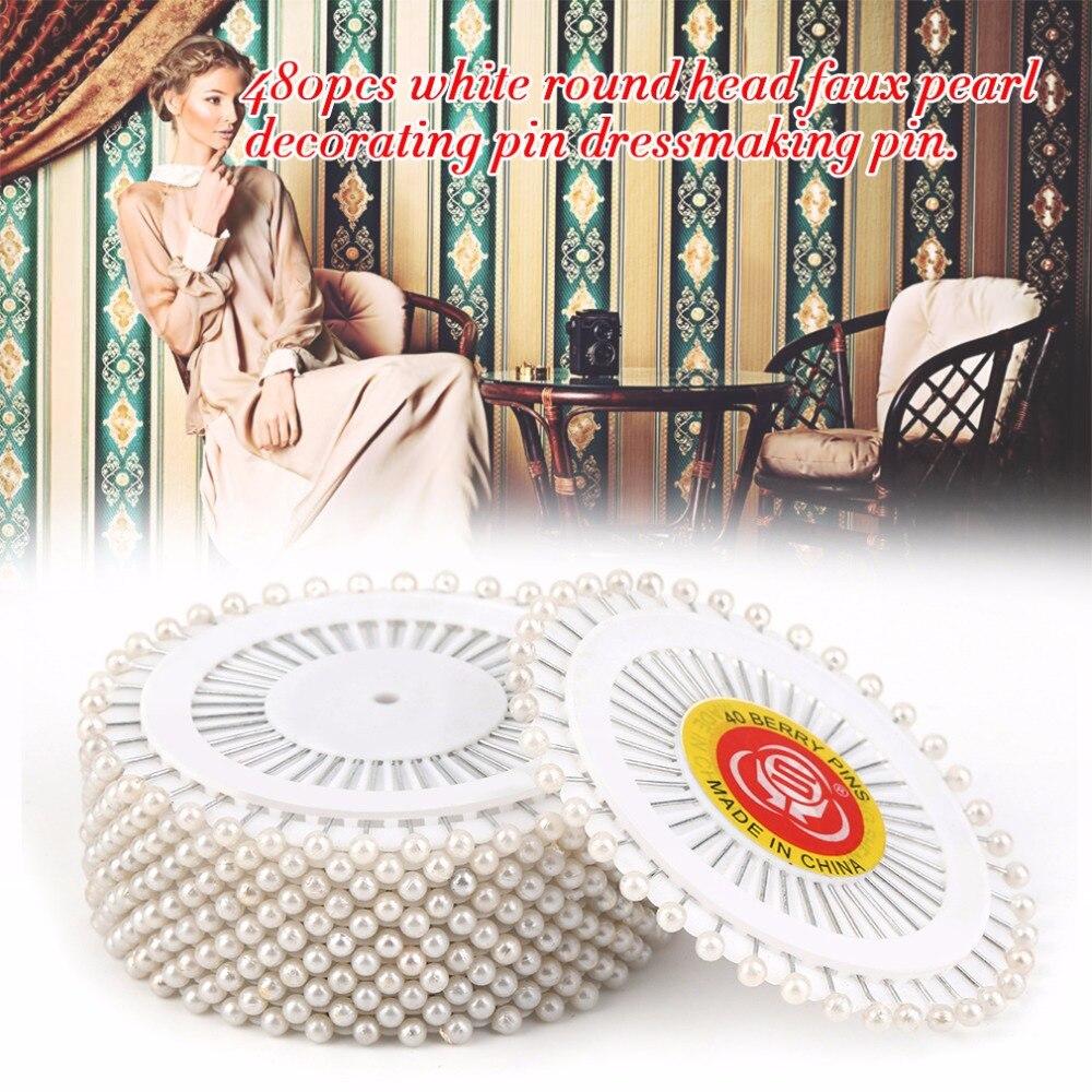 480 pcs Multi Perle Ronde Chef Couture Pins Mariages Corsage Fleuristes À Coudre Outils Femmes Mini Balle À La Main Artisanat Accessoire