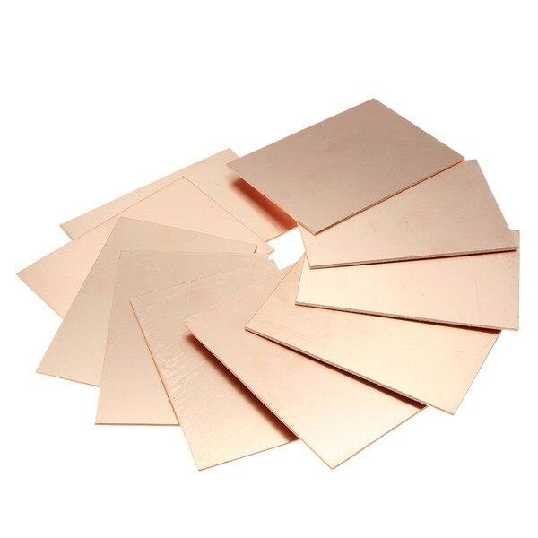 新しい70 × 100 × 1.5ミリメートル20ピース/ロットfr4 pcb片面銅クラッドdiy pcbキット積層板回路基板厚さ1.2ミリメートル最高価格