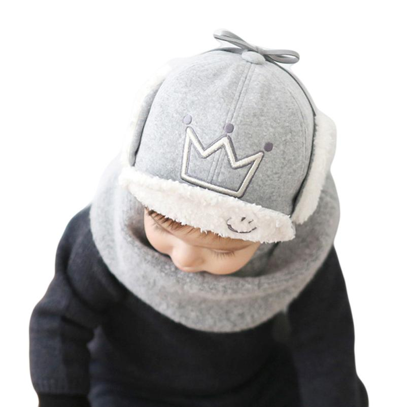 # Vestido 2017 Korean Trendy Warm Winter Baby Beanie Hat Cap Cute Kids Boys Girls Toddler Knitted Beanies17