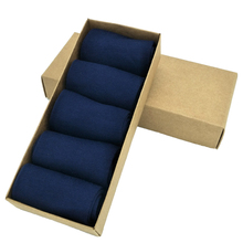 10 Pairs/lot Men Socks Solid Dark Blue Cotton Dress Ankle Socks Suitable for Spring and Autumn,Item AS03