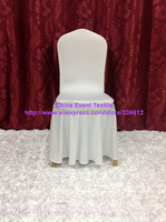 1pcs Extra Thicker #8 White Skirting Chair Cover,Spandex Chair Cover for Wedding Events &Banquet&Party Decoration