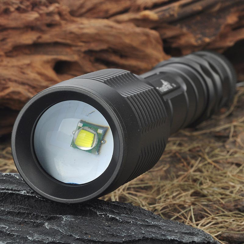 Ultrafire 5-Mode XM-L T6 1600Lumen Zoom White LED Convex Lens Flashlight luz Tactical Switch Torch Hunting LED 18650 battery ultrafire bd0056 led 100lm 3 mode white zooming flashlight black golden 1 x 18650