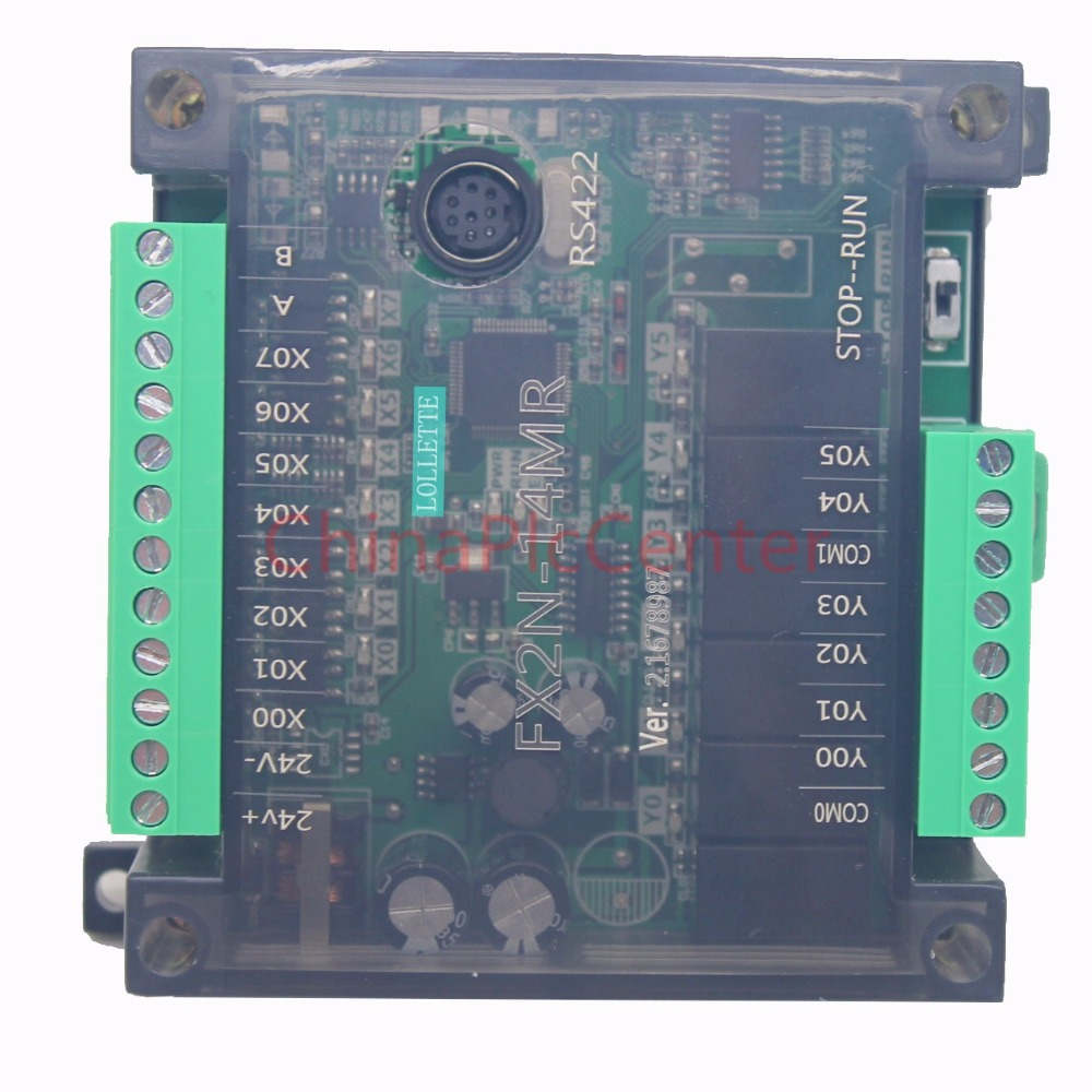 FX2N 14MR 14MT PLC controller 8 input 6 relay output programmable controller rs485 plc controller 20mr 12 input 8 output 4ad 2da compatible for fx2n plc 422