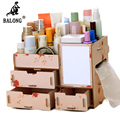 Handmade DIY Wooden Storage Box Jewelry Organizer Case Makeup Container Assembly Cosmetic Organizer for Home Office