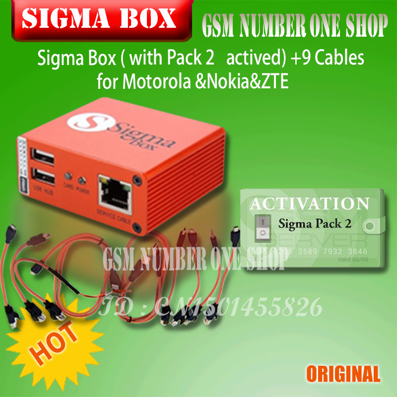 Image 5 - 2019 original Newest Sigma Box with Cable Set + Sigma Pack 1, 2, 3 Activations  for MTK based Motorola Alcatel Huawei ZTE Lenovo-in Phone Adapters & Converters from Cellphones & Telecommunications