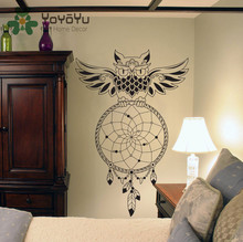 Dream Catcher Wall Decal OWL Dreamcatcher Art Sticker Home Decor Bedroom House DIY Design Poster Mural Removable NY-83