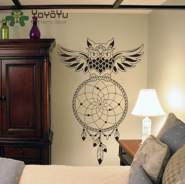 Dream Catcher Group Home Dream Catcher Wall Decal OWL Dreamcatcher Wall Art Sticker Home 12