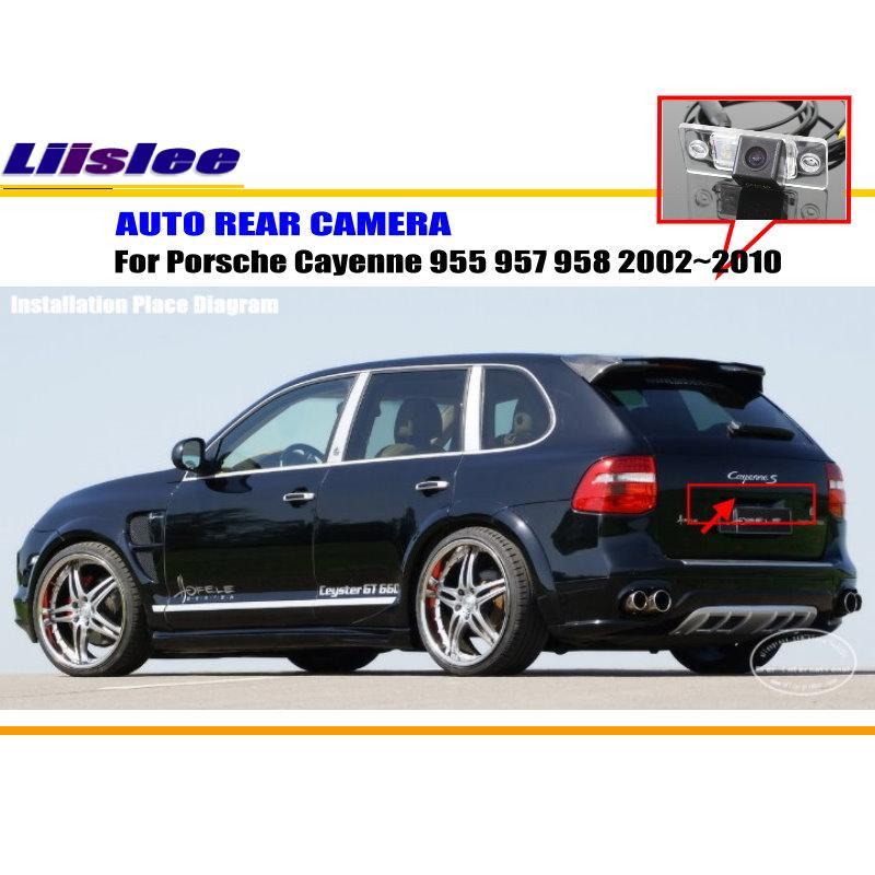 Автомобильный задний Камера для Porsche Cayenne 955 957 958 2002~ 2010/назад парковка Камера/NTST PAL/фонарь освещения номерного знака Камера