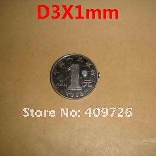 500 шт ремесло Модель Мощный сильный редкоземельный NdFeB магнит-брусок Неодим N35 Магниты D3X1mm