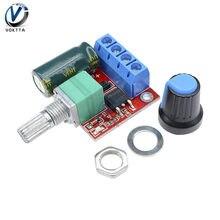 Módulo de controlador de velocidad del Motor de CC Mini 5A, 90W, 12V, 20khz, PWM, DC-DC, 4,5 V-35V, regulador de velocidad ajustable, interruptor de placa de Control