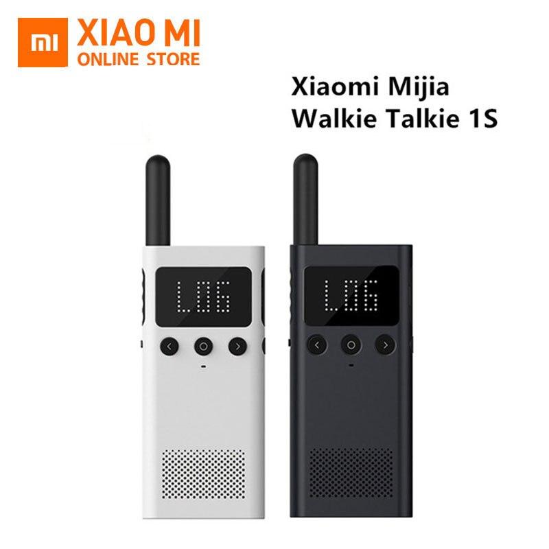 Nouveau Xiaomi Mijia talkie-walkie Interphone 1 S Radio FM 5 jours en veille téléphone APP emplacement partager rapide équipe parler pour un contrôle intelligent