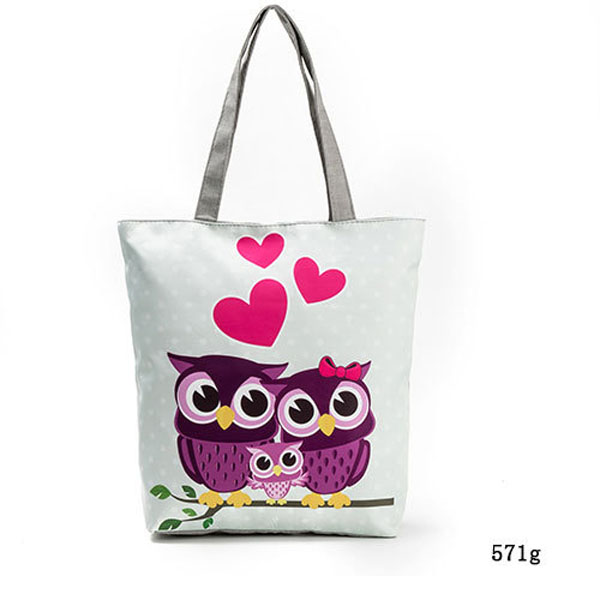 New Women's Canvas Tote Shoulder Handbag Travel Shopping Beach Satchel Folding Bags Owl Pattern LT88 missoni for target travel tote colore chevron pattern