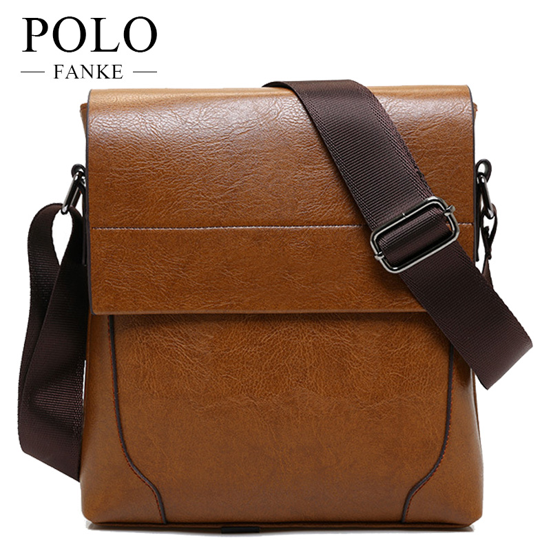 FANKE POLO 2017 New hot sale PU Leather Men Bag Fashion Men Messenger Bag  small Business crossbody shoulder Bags FM170848-in Crossbody Bags from  Luggage ... a658c5a6cfb7c