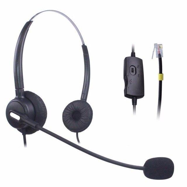US $20 24 22% OFF Wantek Telephone Headset for Cisco 7911 7912 7906G Avaya  1608 1616 9611G Yealink SIP T19P T20P T26P T32G T42G T46G Snom 300 320-in