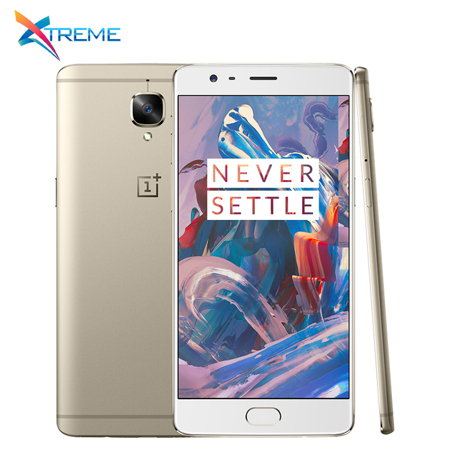 "Оригинал Oneplus 3 A3000 6 ГБ RAM 64 ГБ ROM Snapdragon 820 Quad Core 5.5 ""FHD Android 6.0 4 Г LTE 16MP Мобильный Телефон отпечатков пальцев"
