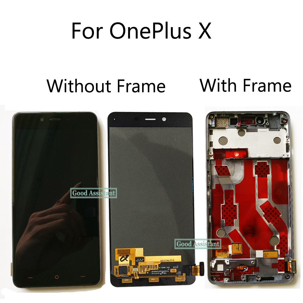 Black/White 5.0 inch NEW For OnePlus X E1001 E1003 LCD Display    Touch Screen Glass Digitizer Assembly Replacement With FrameMobile  Phone LCD Screens