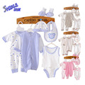 For 0-3month Newborn Baby Layette Clothes Set Toddler Girl Boy 8PCS Clothing Set Unisex Underwear Jumpsuit Rompers Gifts