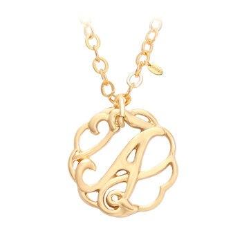 931b696f18a7 Senfai A-Z letras cursiva inicial monograma nombre colgante collares para  mujeres gargantilla joyería de moda regalo de cumpleaños