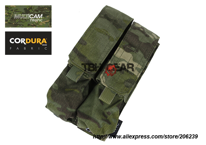 TMC MP7A1 Double Magazine Pouch MOLLE Multicam Tropic MP7 Magazine Pouches Fit 4 Mags Free shipping
