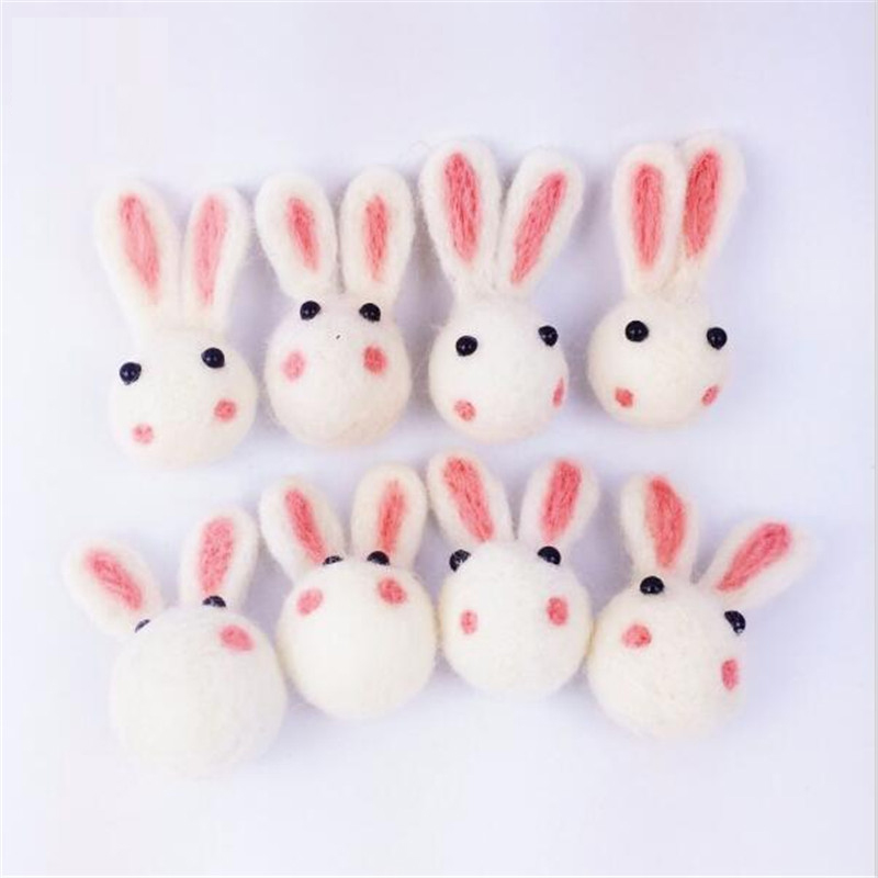 Wool Felt Ball Cute Rabbit 10PC Wool Ball Birthday Party Christmas Gifts DIY Crafts Accessories Baby Nursing Gifts Handmade