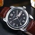 Casual Mens Relojes de Primeras Marcas de Lujo reloj de Cuarzo de Cuero 2016 Resistente Al Agua de Cuarzo Analógico Reloj de pulsera Para Hombres Fecha Reloj Hombre