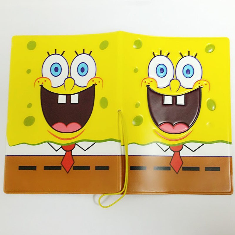 Cartoon SpongeBob Passport Cover ID Credit Card Holder yellow 3D ...