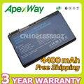 Apexway 6 celdas de batería tm00741 tm00751 grape32 grape34 para acer extensa 5620g 5210 5220 5230 travelmate 5520