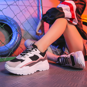 Image 5 - Women Shoes 2019 New Chunky Sneakers For Women Vulcanize Shoes Casual Fashion Dad Shoes Platform Sneakers Basket Femme Krasovki