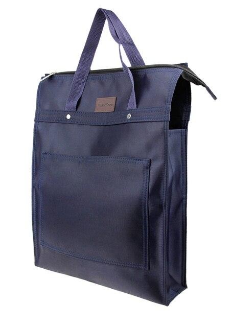 Superb Large Portable File Portfolio File Folder Oxford Zipper Document Organizer  Briefcase,Travel Double Layered Handbag