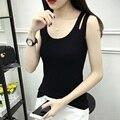 Harajuku женщины топы рубашка без рукавов растениеводство топ плюс размер 2XL 3XL футболка тренировки танки blusas женский хлопок sexy топы жилет
