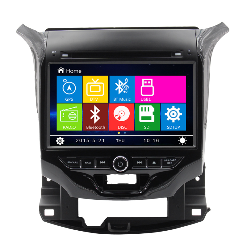 Free Shipping 8 inch Car Radio DVD Multimedia Player GPS Navigation for CHEVROLET CRUZE 2015 with