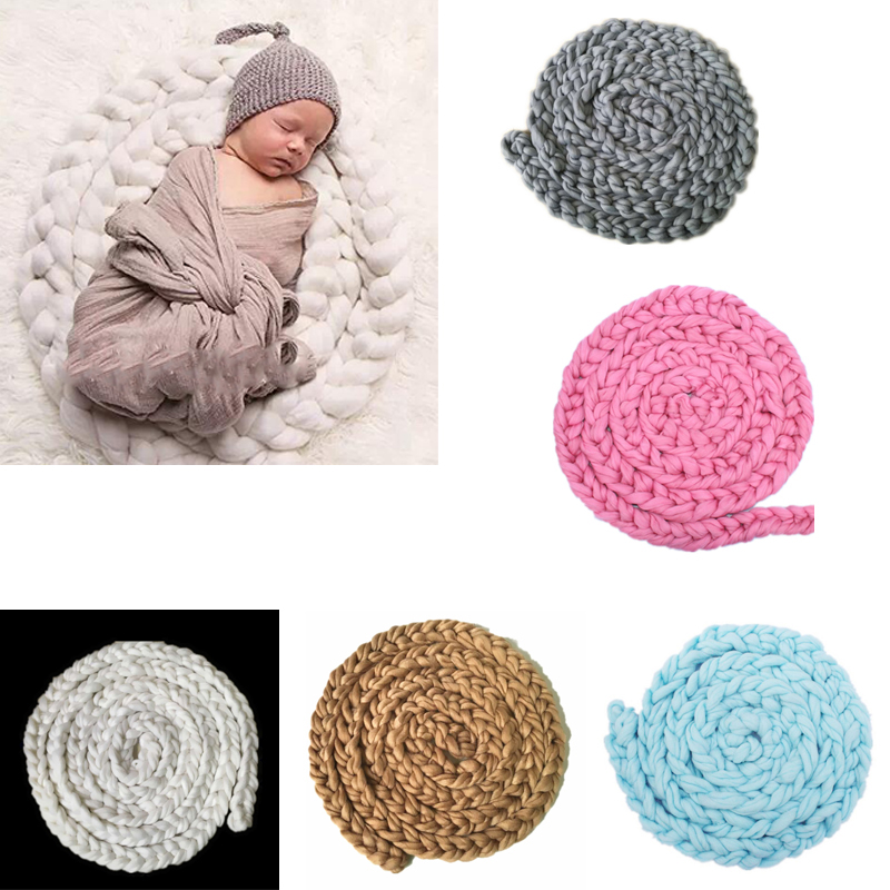 Five Color Newborn Baby Soft Photography Photo Prop Infant Backdrop Braided Child Blanket Rug FJ88Five Color Newborn Baby Soft Photography Photo Prop Infant Backdrop Braided Child Blanket Rug FJ88
