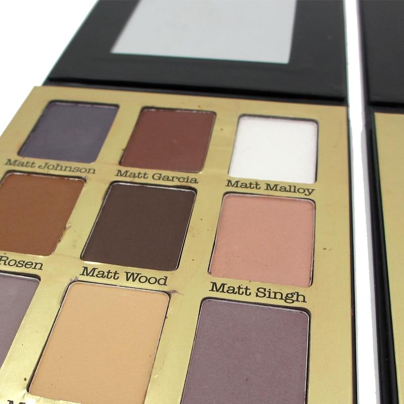9 color Bright eye shadow kit lasting natural matte eyeshadow Beauty Eyeshadow Cosmetic Wild smoked makeup Daily life makeup