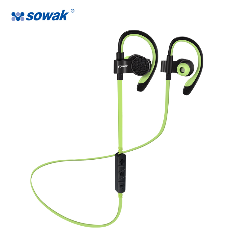 Sowak Bluetooth 4.1 Wireless Sport Headphones Sweatproof Running Gym Exercise Headset Hands Light Free Calling with Mic headset