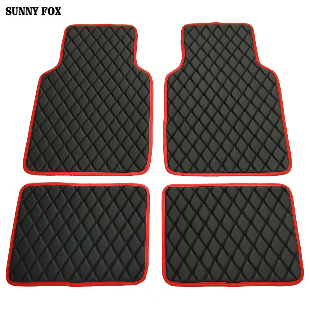 SUNNY FOX Universal Car floor mats for BMW 3 5 7 Series F20 E90 F30 E60 F10 F11 G30 F01 G11 X1 car styling waterproof carpet