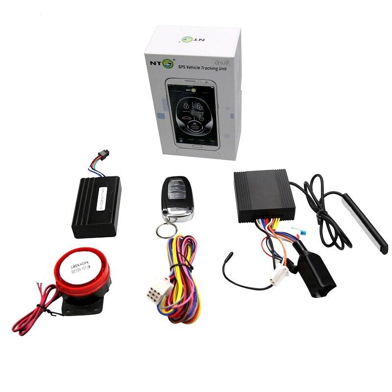 NTG02P traqueur gps moto avec wifi sms carte sim traqueur gps bras automatique désarmer avec une télécommande PKE