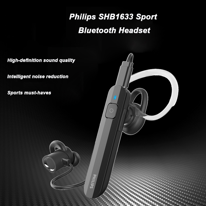 Philips Wireless Headset SHB1633 with Bluetooth 5.0 Lithium polymer Volume Control for Iphone X Galaxy Note 8 Official Test-in Bluetooth Earphones & Headphones from Consumer Electronics    1