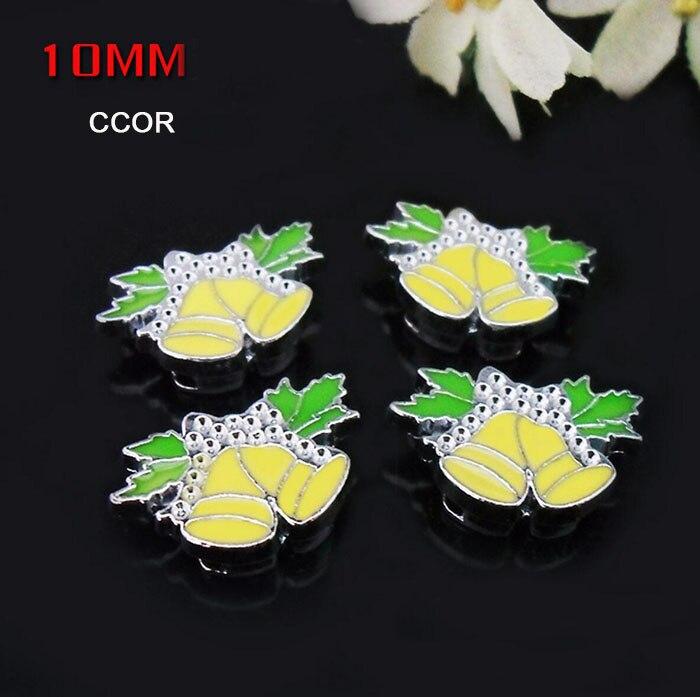 Wholesale! 50PCS 10MM Enamel Coconut Slide Charms Letters Finding Jewelry Fit 10MM Belts Bracelets
