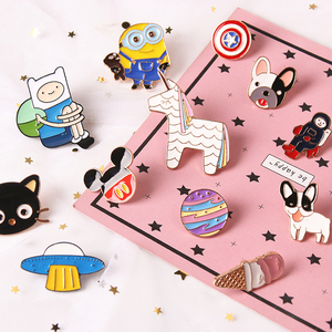 1pcs Mix Ice Cream Planet Unicorn pattern Metal Badges Pins and Brooches for Women Men Lapel pin backpack bags badge jacket NW3(China)