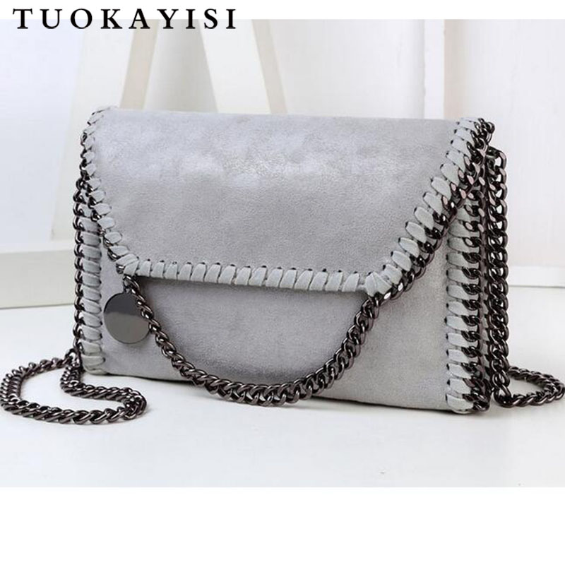 Luxury retro Handbags women's Chain small bag Designer Leather Suede Bags For Women 2018 Messenger CrossBody Bags Bolsa Feminina